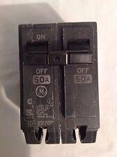 15 GE RT-690 Circuit Breaker 2 Pole 50Amp 12/24 AC