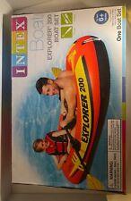 Intex Explorer 200 Inflatable 2 Person River Raft Boat Kayak Canoe Beach Lake