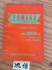 Yamaha Chappy LB80IIH 1975 511 LB 80 catalogue pièces détachées parts list moto