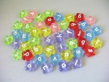 1300Pcs Mixed colour flower alphabet beads E18700