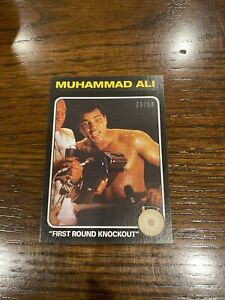 2021 TOPPS MUHAMMAD ALI PEOPLE'S CHAMP BLACK PARALLEL 23/56 CARD #58 1st RD KO