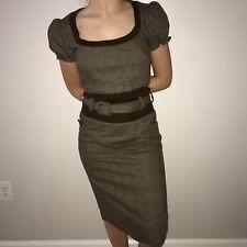 D&G Women's Brown Tweed Sheath Dress Size 4 $1750