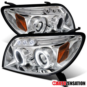For 2003 2004 2005 Toyota 4Runner LED Dual Halo Rims Projector Headlights Lamps