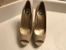 Woman Peep Toe Pumps Guess Beige High Heels Woman Shoes Size 8 - Only Worn Once