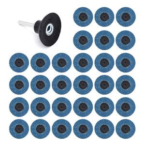 Yuhtech 31 Pcs 2 Pouces 50mm Disques Abrasifs Disques à Lamelles 40/60/80 Grit