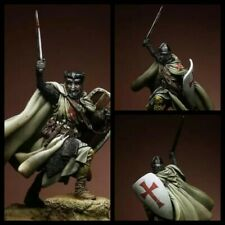 Scale 1/24 75mm Templar Knight ancient soldier figure Historical resin model 2