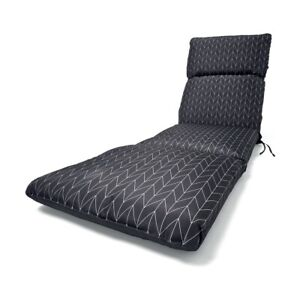 Grey Sunlounger Cushion Outdoor Seat Cover Lounge Patio Chair Water Resistant FB