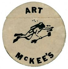 "One 1 Vintage ""Diver"" Sticker Art McKee's Museum of Sunken Treasure ca. 1950s"