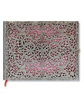 "Paperblanks Guest Book, Silver Filigree Blush Pink, Lined, 144 Pages, 9"" x 7"""