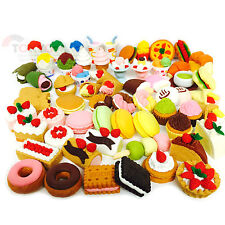 30 of Assorted FOOD CAKE DESERT Japanese Erasers IWAKO