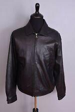 Kirkland Black Leather Bomber Jacket XXL
