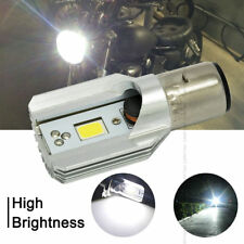 Top White Headlight Bulb LED Motorcycle 1x H6 BA20D DC 6V-80V 12W COB Beam