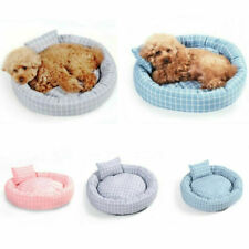 Pet Dog Cat Kennel Warm Plush Calming Bed Round Nest Comfy Sleeping Cave Bedding