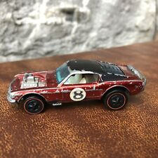 VTG 70s Hot Wheels Redline Mustang Boss Hoss Red Black Top Roof Mattel