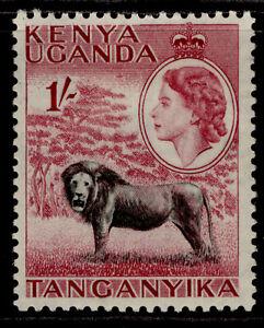 KENYA UGANDA TANGANYIKA QEII SG175, 1s black & claret, M MINT.