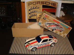 PORSCHE 911RS TAIYO, FULL TIN BODY W/MYSTERY BUMP'N GO ACTION! PERFECT W/BOX!