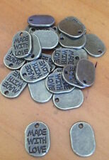 Antiqued Metal Oval Jewellery Beads