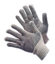 4 Dozens 48 Pair Standard String Knit Pvc Dot Both Sides Work Gloves Lady (S)