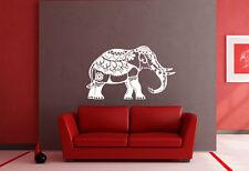 Decorativo Indiano Elefanti Wall Art Vinile Decalcomania Adesivo Casa Rimovibile