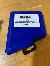 Hanson 10 Piece Left Handed Drill Extractor / Drill Set  11119