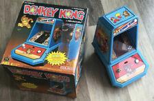 Coleco DONKEY KONG Mini Tabletop Arcade Game Nintendo 1981-box-WORKS, battery op