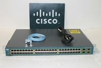 Cisco WS-C3560-48TS-S 48-Ports 10/100 Ethernet Switch IOS 15.0 IPSERVICES K9