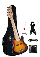 "Raptor 30"" Kids 1/2 Size TOBACCOBURST Electric Guitar Combo + Amp Bag Strap Pick"