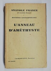 Rare Book Old L'Amethyst Ring from Anatole France 1928