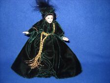 """""""Scarlet"""" porcelain doll by Lynn's Little Ladies, w/stand, 1:12 scale, new"""