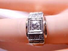 Antique Art Deco Diamond ring 7 diamonds 14K Yellow Gold  Size 6.5