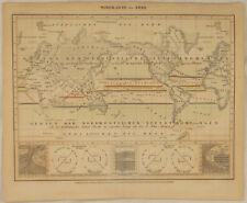 Thermische Windrose METEOROLOGIE Orig. Wetterkarte um1890 Windkarte der Erde
