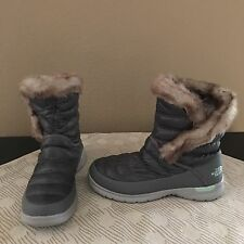 The North Face Thermoball Women Winter Snow Rain Boots Gray Size 7 US