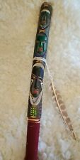 Vintage Totem Pole Hand Carved Tiki Native American Indigenous Wood Stick