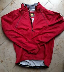 Mens REI Novara Cycling Convertible Jacket Vest Red M Removable Sleeves - EUC
