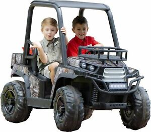 Realtree 24 Volt UTV ride on by Dynacraft with custom Realtree graphics and work