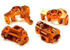 T5023ORANGE Integy Steering Knuckle & Caster Block Set for HPI Savage XS Flux
