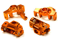 T5023ORANGE Integy Steering Knuckle & Caster Block Set for HPI Savage XS Flux