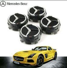 OEM Mercedes AMG CENTRO CERCHI IN LEGA HUB CAPS-Nero 75MM A B C E S ML Classe