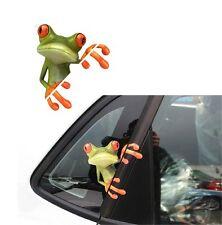 2 stickers autocollants pour vitre auto grenouille marrante 13201 Art déco Stick