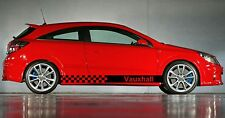 Vauxhall Astra Vinilo Coche Gráficos Pegatinas Rayas Calcomanías Checker SXI VXR Etc
