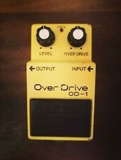 1980 Boss OD-1 Silver Screw Black Label