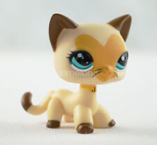 Littlest Pet Shop Cream Heart Short Hair Cat LPS #3573 Heart Face Kitty Toy Gift