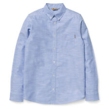 £75 CARHARTT SLIM FIT ROGERS SHIRT BLEACH BLUE LARGE COTTON BD COLLAR APC NEW