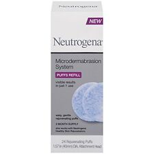2 Pack - Neutrogena Microdermabrasion System Puff Refills, 24 Count Each
