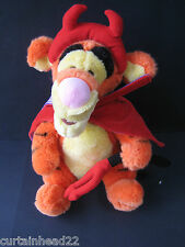 2001 PLUSH TIGGER SOFT TOY DISNEY WINNIE THE POOH RED DEVIL HALOWEEN