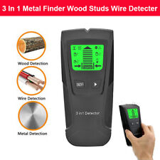 Handheld Portable Wall & Metal Detector Wood AC Voltage Live Wire Finder Scanner