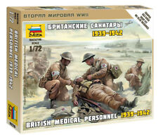 Zvezda 1/72 figuras personal médico británico 1939 - 1942 Z6228