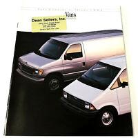 FORD COMMERCIAL TRUCKS - VANS 1992 Vintage SALES BROCHURE / CATALOG Econoline ++