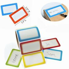 200 Name Tags Stickers Personalized Self Adhesive Label Party Office Home School