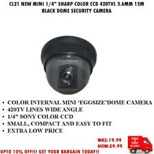 """Cl21 NUOVO MINI 1/4"""" CCD Colore SHARP 420tvl 3.6mm 15m Nero a Cupola Telecamera di sorveglianza"""